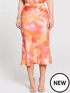 e6ead2c198 Kate Wright Bias Cut Midi Skirt - Tie Dye