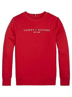 tommy-hilfiger-boys-essential-logo-crew-neck-sweat-red