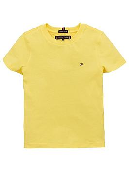 tommy-hilfiger-boys-essential-flag-short-sleeve-t-shirt-yellow
