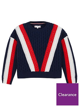 tommy-hilfiger-girls-colour-block-knitted-jumper-navy