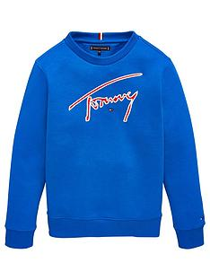 tommy-hilfiger-boys-signature-logo-crew-neck-sweat-royal-blue