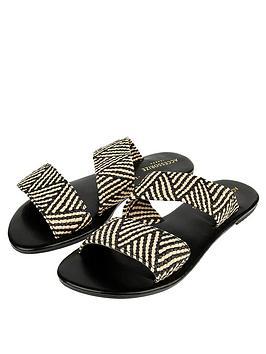 accessorize-alice-asymmetric-woven-sliders-black