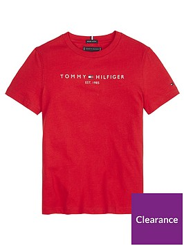 tommy-hilfiger-boys-essential-logo-short-sleeve-t-shirt-red