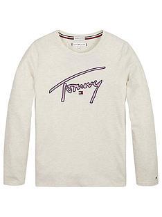 tommy-hilfiger-girls-signature-long-sleeve-t-shirt-cream