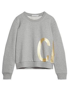 calvin-klein-jeans-girls-gold-logo-crew-neck-sweat-grey-marl