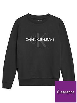 calvin-klein-jeans-girls-monogram-crew-neck-sweat-black