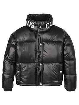 Calvin Klein Jeans Calvin Klein Jeans Girls Boxy Padded Coat - Black Picture