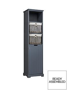 lloyd-pascal-burford-ready-assembled-painted-tall-bathroom-storage-unit-grey