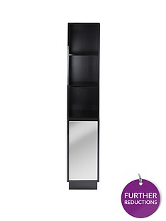lloyd-pascal-memphis-mirrored-black-high-gloss-tallboy-bathroom-storage-unit