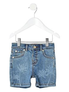 river-island-mini-mini-boys-dylan-slim-fit-shorts-blue