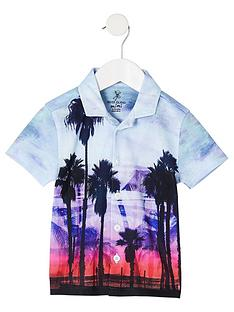 river-island-mini-boys-blue-palm-print-shirt