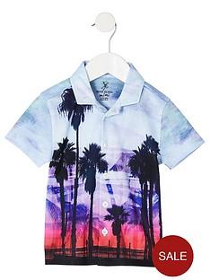 river-island-mini-boys-blue-palm-print-shirt