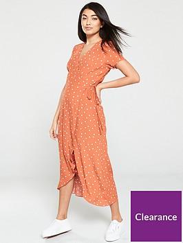 warehouse-spot-wrap-midi-dress-tan