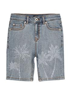river-island-boys-skinny-fit-palm-print-shorts-light-blue