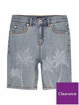 river-island-boys-skinny-fit-palm-print-shorts-light-blue