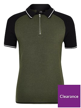 river-island-boys-block-zip-polo-shirt-khaki