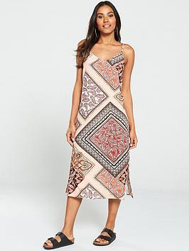 Warehouse Warehouse Paisley Cami Midi Dress - Multi Picture