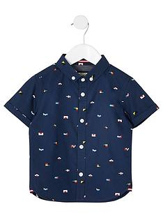river-island-mini-mini-boys-flag-print-shirt-navy