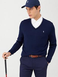 polo-ralph-lauren-golf-v-neck-contrast-trim-knitted-jumper-navy