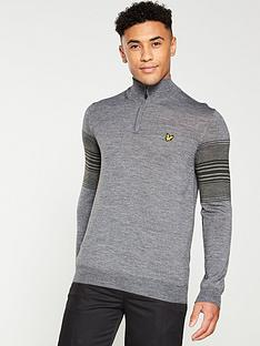 lyle-scott-golf-stripe-quarter-zip-jumper-thunder-grey