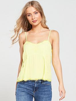 river-island-lace-trim-cami-yellow