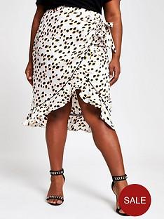 ri-plus-spot-wrap-skirt-black-spot