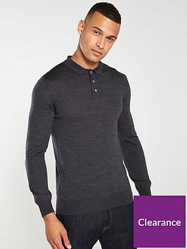 barbour-merino-long-sleeved-polo-shirt-charcoal