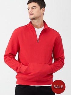 v-by-very-quarter-zip-funnel-neck-sweatshirt-red