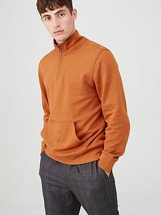 v-by-very-quarter-zip-funnel-neck-jumper-orange
