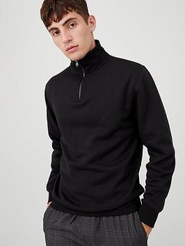 v-by-very-quarter-zip-funnel-neck-jumper-black