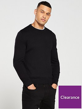 barbour-international-baffle-patch-crew-neck-sweater-black