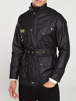 Barbour International Barbour International Slim Wax Jacket - Black Picture