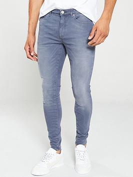 river-island-grey-ollie-spray-on-skinny-jeans