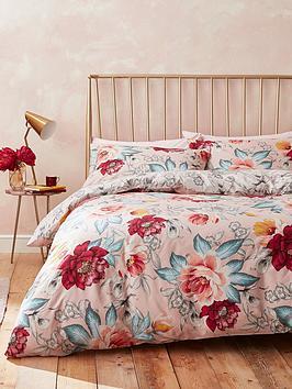 Accessorize   Isla Floral 100% Cotton Duvet Cover Set