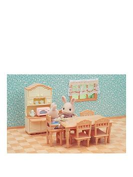 Sylvanian Families Sylvanian Families Dining Room Set & Kitchen Play Twin  ... Picture