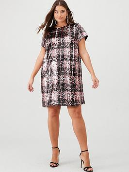 V by Very Curve V By Very Curve Sequin Check Tunic - Multi Picture