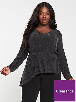 v-by-very-curve-lurex-glitter-ruffle-long-sleeve-top-black