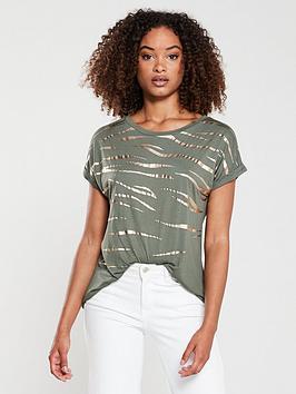 oasis-foil-tiger-t-shirt-khaki