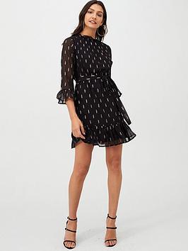 V by Very V By Very Metallic Thread Dobby Tunic Dress - Black Picture