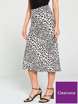 oasis-dalmatiannbspprint-bias-cut-skirt-mono