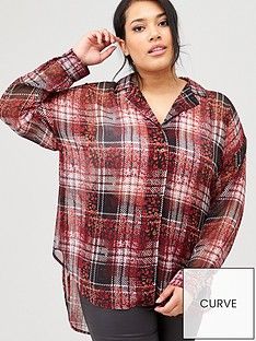 v-by-very-curve-animal-check-longline-shirt-multi