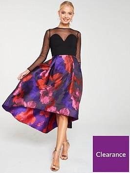 v-by-very-mesh-top-jacquardnbspprom-dress-multi