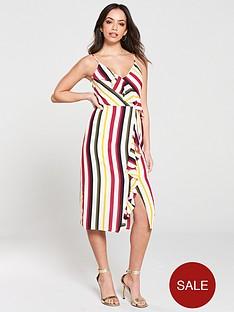 oasis-bali-stripe-frill-midi-dress-naturalnbsp