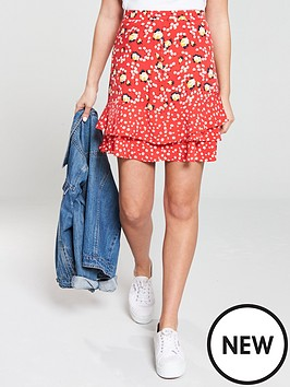 oasis-ditsy-patched-tiered-mini-skirt-multirednbsp