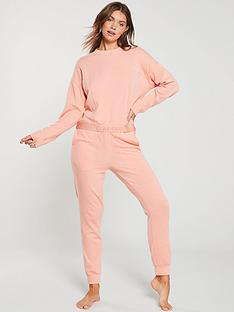 calvin-klein-lounge-sweatshirt-coral-pink