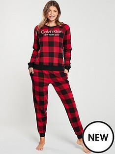calvin-klein-lounge-jogger-pants-red