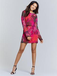 michelle-keegan-pleated-back-printed-mini-dress-pink-animal