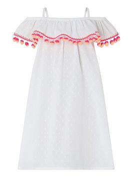 accessorize-girls-bardot-pom-pom-dress-white