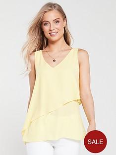 wallis-asymmetricnbspfrill-camisole-yellow