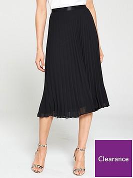 wallis-sunray-pleat-midi-skirt-blacknbsp